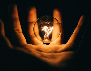 Lightbulb in Hand