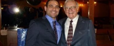 Jeff Corrado, Founder of Passiv AI, with Warren Buffett