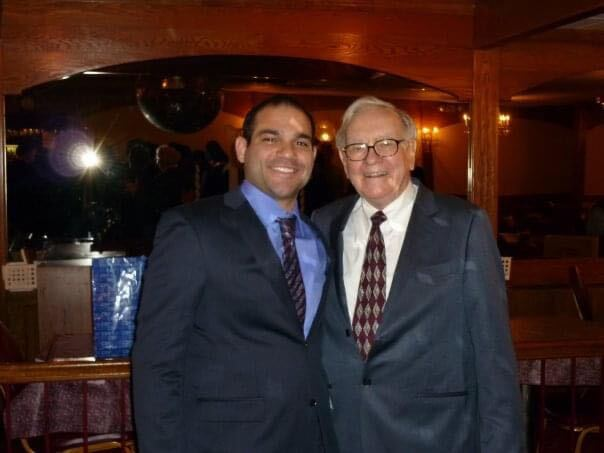 Jeff Corrado, Founder of Passiv AI, with Warren Buffett